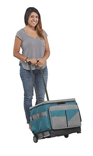 ECR4Kids MemoryStor Universal Rolling Cart and Organizer Bag Set, Turquoise