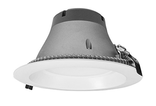 NICOR Lighting Dimmable 2500-Lumen 4000K LED Recessed Downlight, White (CLR8-10-UNV-40K-WH) by NICOR Lighting