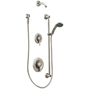 moen t8342nhcbn commercial mdura positemp shower trim kit without showerhead classic brushed nickel