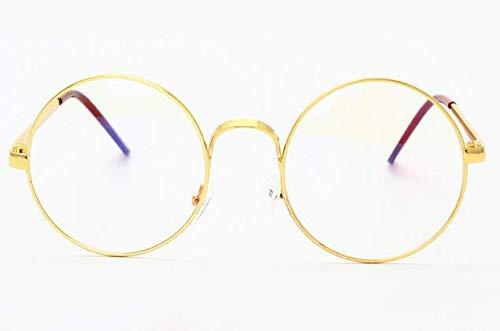 4fa29824c نظارات شمسية نسائية ورجالية باطار معدني كامل وعدسات ريترو دائرية مسطحة من  الزجاج