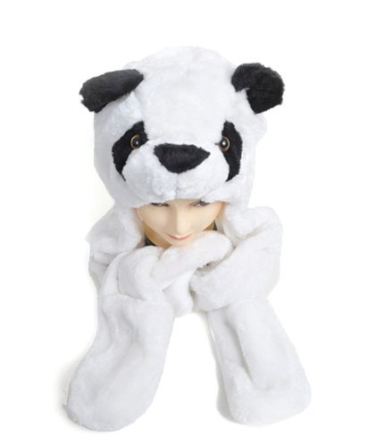 Plush Animal Winter Hats with Paws, Long Mittens - Many D...