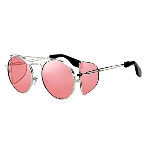 Retro Soleil de à Ronde Punk Femme soleil Coupe lunettes Des B Personnalité de C Garde Avant Monture Sport Vent Couleur Lunettes q1nwvxA