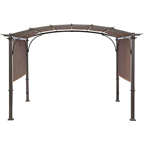 MasterCanopy Universal Doubleton Steel Pergola Replacement Cover for Pergola Structures 80''x 205'' Brown(Cover only)