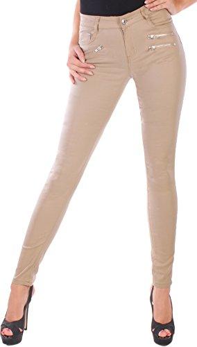 Black Denim - Pantalón - skinny - para mujer beige XL / 42