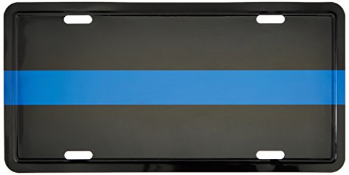 Police Thin Blue Line Metal Tag Reflective