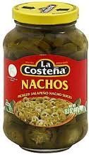 La Costeña Nachos Pickled Jalapeño Nacho Slices Net Wt 15.5 Oz (440g) (La Costena Jalapeno)