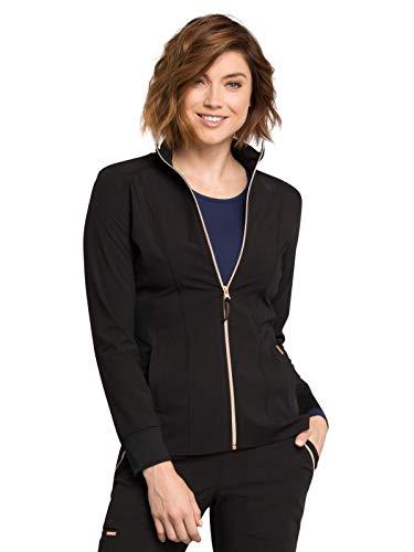 Cherokee Statement CK365 Women's Zip Front Jacket Black XXS