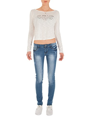look Bleu jeans basse pantalon taille skinny us Fraternel femme en AzP0qxfw