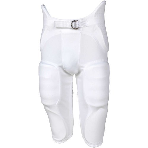 Russell Youth Integrated 7 Piece Pad Economy Football Pants - White-M (Russell Football Youth Pants)