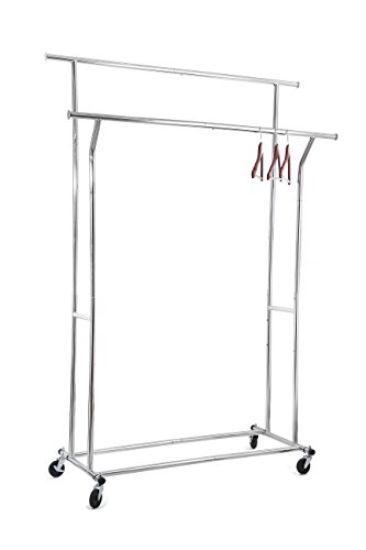 Home It Double Clothes Rack Heavy Duty Commercial Grade