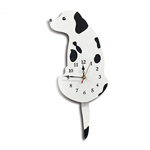 Cherry-Lee Dog Wall Clock, Atmospheric Personality Creative Simple Cartoon Acrylic Wag Tail Dog Innovative for Living Room, Kitchen, Office & Home Décor Without Battery