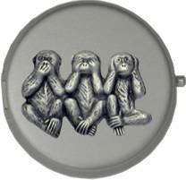three-wise-monkeys-round-portable-pocket-ashtray-gunmetal-grey-matte-finish