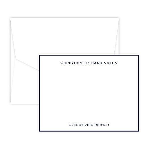 Personalized Executive Raised Ink Correspondence Cards (white)