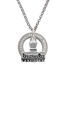 3-D ''Dream On'' Stamp Custom Engraved Affirmation Ring Necklace (Names Of Monster High Characters)