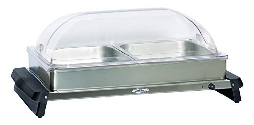 (BroilKing NBS-2RT Professional Double Buffet Server with Rolltop Lids)