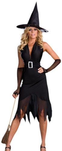 [Dreamgirl Women's Hocus Pocus Costume,Black,Large] (Hocus Pocus Halloween Costumes)