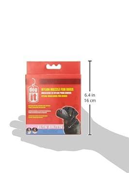 Dogit Nylon Dog Muzzle, Black, X-Small/3.9-Inch 90801