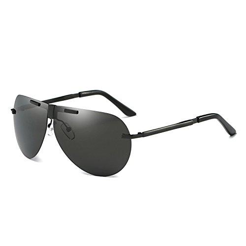 Pesca UV400 Black aluminio de gafas TIANLIANG04 gafas polarizada de reborde plegable Guía piloto polarizadas sin antirreflejo Mens gris 8CwqnSP4