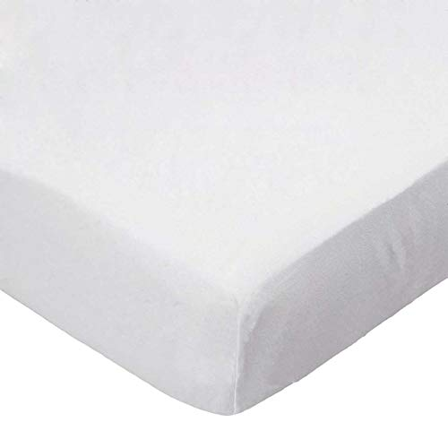 (SheetWorld 100% Cotton Percale Flat Crib Toddler Sheet 28 x 52, Solid Ivory Woven, Made in USA)