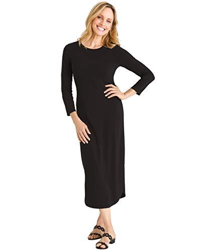Chico's Women's Shirttail-Hem Dress Size 8/10 M (1) Black