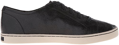 Hush Puppies Womens Ekko Gwen Oxford Black Crackled Suede
