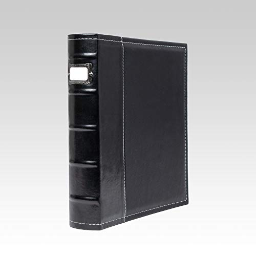 (Bellagio-Italia 3 Ring Binder - 1 Inch Ring Stores up to 250 Pages - Classy Faux Leather Binder for Presentations, File Storage, and Trading Cards (1))