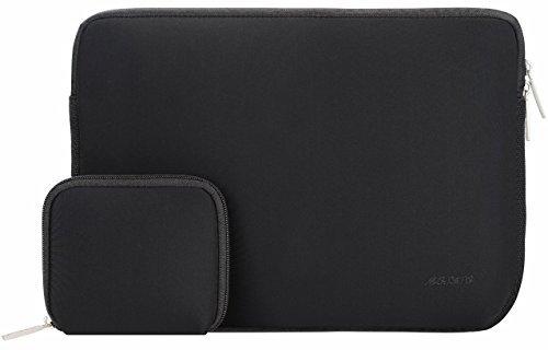 Mosiso Wasserdicht Neopren Hülle Sleeve Laptoptasche für 12,9 Zoll iPad Pro, 13-13,3 Zoll MacBooks, Laptops mit Bonus-Tasche Farbe: Schwarz