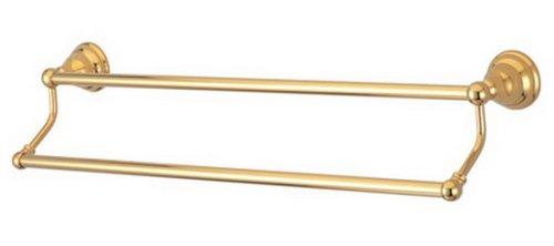 - Kingston Brass BA5563PB Royale 24-Inch Dual Towel Bar, Polished Brass