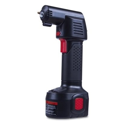 OBEST Hand-Held Tire Inflator,Protable Mini Air Comperssor Electric Inflatorwith Rechargeable Li-ion 12V Battery and Cigarette Lighter Base