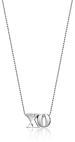 "Alex Woo ""Little Letters"" XO Silver Pendant Necklace"