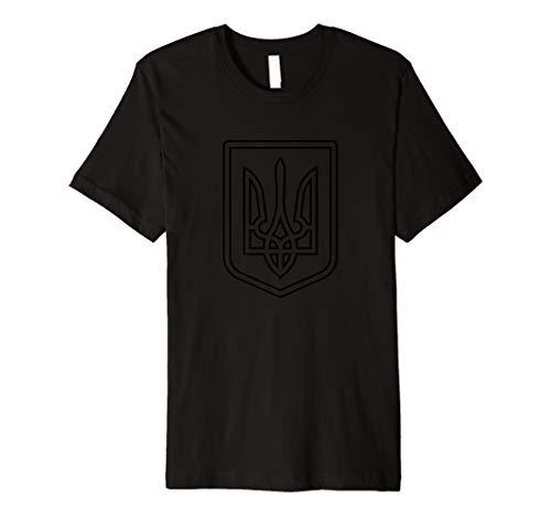 - Tryzub Shirt Ukraine Coat of Arms Ukrainian Anti-Communist  Premium T-Shirt