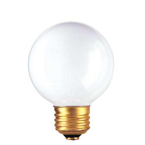 Bulbrite 320025 - 15PK - 25W - G19 - Medium Base - 125V - 2600K - 2,500Hrs - White - Incandescent Globe Light ()