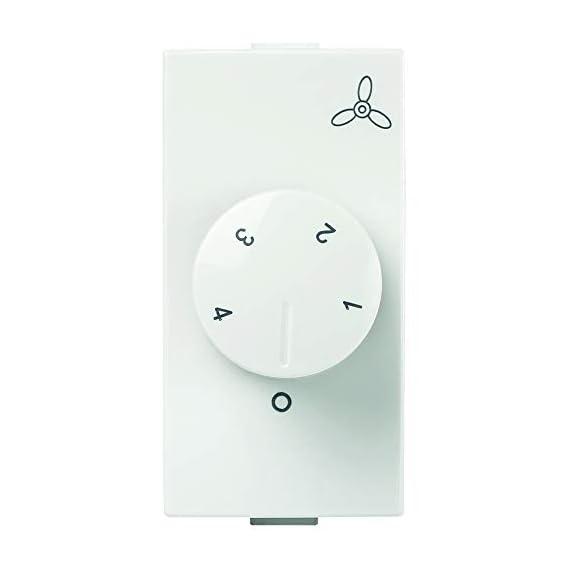 Anchor by Panasonic Roma Plus Modular Polycarbonate 1m 100W Fan Regulator (White)