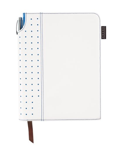 Cross Signature Journal, Medium, White and Royal Blue (AC236-6M) by Cross