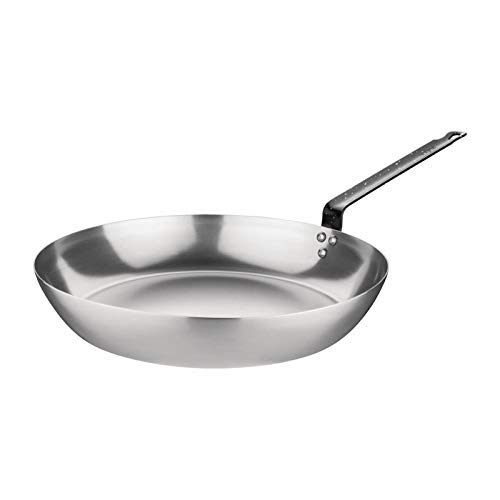 Vogue GD064 Black Iron Fry Pan 10In Frying Kitchen Cookware Induction Heavy Duty
