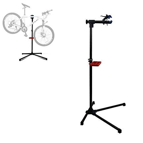 DakRide Adjustable Pro Mechanic Bike Repair Stand Maintenance Rack Workstand W/Tool Tray & Telescopic Arm Extensible Bicycle Repair Stand