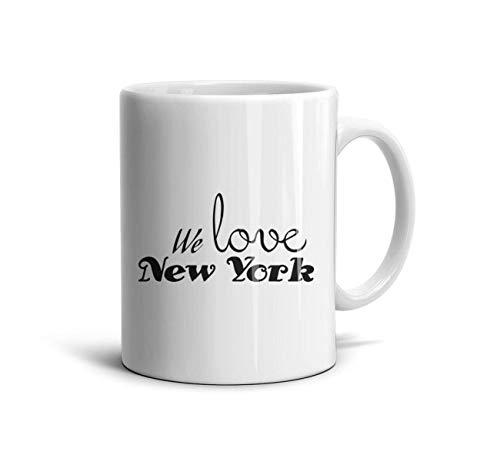 Shirtjkdsaa Funny Coffee Mug we Love New York Wallpaper Picture White Ceramic Souvenir Reusable Travel Mugs