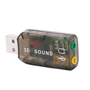 Amazon.com: eDealMax Adaptador Para micrófono USB 3D Tarjeta ...
