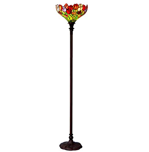 AO-Lamps European Retro Antique Lamp, Retro Luxury Floor Lamp, Living Room Bedroom Lamp Tulips