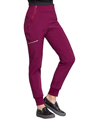 CHEROKEE Infinity CK110A Women's Mid Rise Tapered Leg Jogger Pant Wine 2XL Petite from CHEROKEE