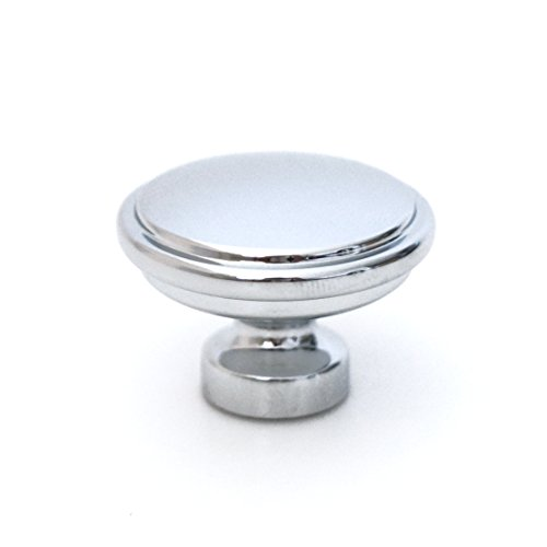 - (Qty 1 per Package) Kruse Hardware - Milano Door and Drawer Knob - 1-1/4in Diameter, Polished Chrome