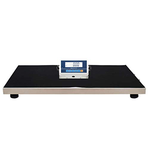 (ZCY Pet Electronic Scale,Dog Cat LED Display Detachable Large Countertops High-end Square Corner Postal Parcel Small Express 180kg Wireless Transmission (Size : 100kg/20g))
