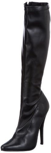 Devious EU-DOMINA-2000 Boots Womens Black Schwarz (Blk str pu) Size:42 EU/9 UK by - Uk Boots Stores