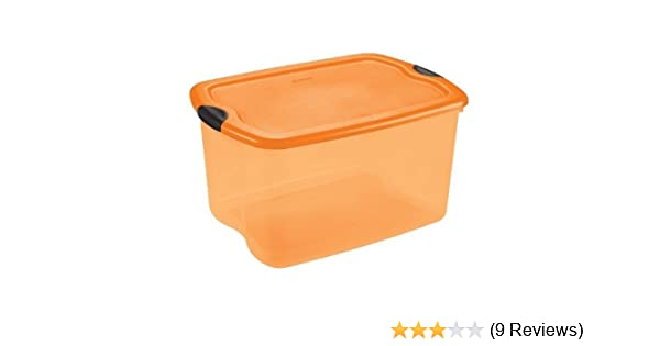 Amazon.com: Sterilite 66 Quart Orange U0026 Black Latch Holiday Box: Home U0026  Kitchen