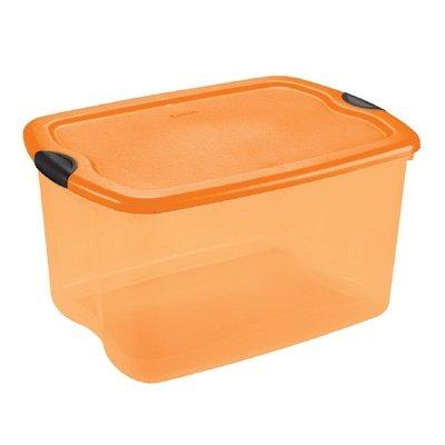 Amazoncom Sterilite 66 Quart Orange Black Latch Holiday Box