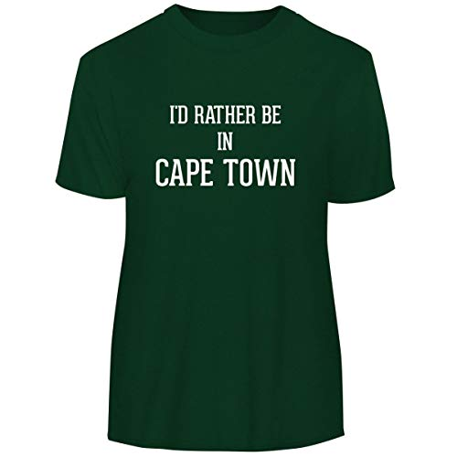 University Of Cape Town South Africa - I'd Rather Be in Cape Town - Men's Funny Soft Adult Tee T-Shirt, Forest, Medium