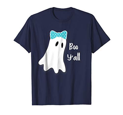 Boo Y'all Halloween Shirt Preppy Southern Ghost Girls]()
