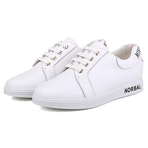 Nappa White Comfort Leather Shoes White ZHZNVX Spring Fall Flat Sneakers Women's Black Heel ZpCnwqE