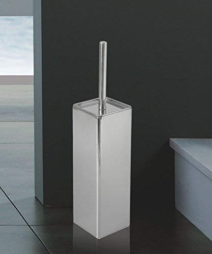 Chrome Freestanding Stainless Steel Square Toilet Brush And Holder by BeNeLux