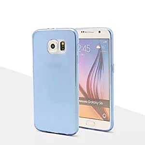 WQQ Special Design Solid Color Transparent ultra-thin0.3mm TPU for Samsung Galaxy S6(Assorted Colors) , Blue